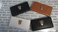 NWT Michael Kors Leather Hamilton Traveler LG Zip Around Wallet