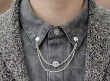 Fabulous Solid 925 Sterling Silver Men's Beautiful Fantastic Collar Tips