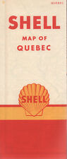 1960 Shell Road Map: Quebec NOS