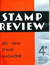 "Stamp Review Magazine - VOLUME ONE 1937 - about 300 pp, 10x12""  hardbound - 1937"