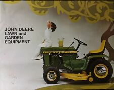 John Deere 140 112 RARE Patio Custom Color Brochure Lawn Garden Tractor Catalog