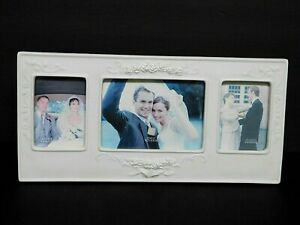 """Vintage RUSS Wedding Picture Frame 2.5""""x 3.5"""" & 5"""" x 3.5"""" Over All 12.5"""" x 6"""" NE"""