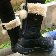 UGG Vibram Australia Winter Waterproof Black Ladies Boots Size US 8