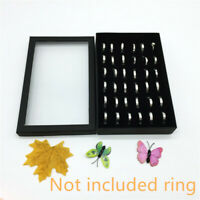 Display Box Tray Organizer Earring Storage Velvet Show Holder Jewelry Case Ring