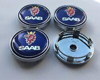 ☆ 4 LOGO EMBLÈME SAAB 60 mm caches moyeu jante, centre de roue/ NEUF ☆