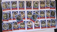 1972 Sunoco / Nfl Football Stamps - New York Giants - Lot Of 29 rare