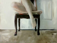 "WILLIAM OXER ORIGINAL CANVAS ""The First note"" Pretty Girl legs Woman PAINTING"