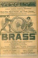 Advertising Newspaper Victory Theatre Movie BRASS Monte Blue Marie Prevost 1923