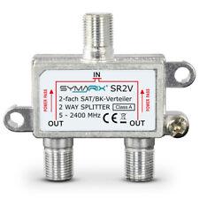 SYMARIX 2 fach SAT Verteiler 5-2400 MHz DC durchlass SCR, Unicable, dcss, DVB-T