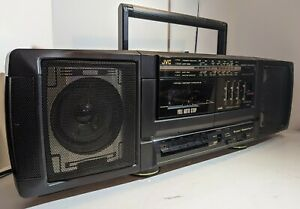 ✅Vintage JVC PC-90 Cassette Tape Stereo Radio Boombox w/ Equalizer Sounds Great✅