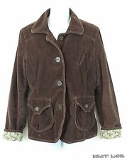 GAP Corduroy Jacket Contrast Floral Lining Button Flap Pockets Elbow Patches 12