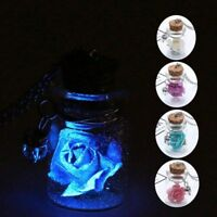 Glow In The Dark Rose Necklace