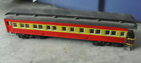 Vintage HO Scale Custom Painted Red Yellow  Passenger Car #2