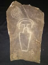 Native American folk art pictograph rock