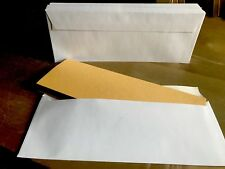 50 Half C4 / A4 Wallet Envelopes White 100gsm Self Seal For Weddings, Leaflets