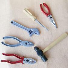 6x Baby Kinder Lernen Plastik Sicherheits Reparatur Hammer Zange Werkzeuge