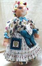 Karen Kennedy Goebel 1995 Carol Anne Porcelain Pig Doll Abigail Oink Musical