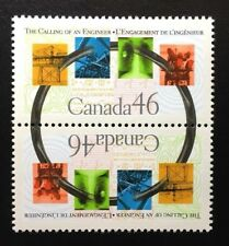 Canada #1848a MNH, The Calling of an Engineer Pair of Stamps 2000