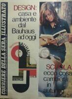 CORRIERE DELLA SERA ILLUSTRATO N.22 1979 DESIGN DAL BAUHAUS A OGGI