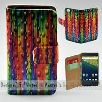 For Google Series - Teardrop Straw Theme Print Wallet Mobile Phone Case Cover