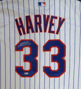 Mets Matt Harvey Autographed White Majestic Jersey Size XL MLB Holo #HZ302123