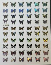 Holographic Butterfly Nail Stickers nail designs springs summer nail art