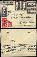 1058 - Francia - Posta aerea su busta da Parigi a Buenos Aires (Argentina), 1935
