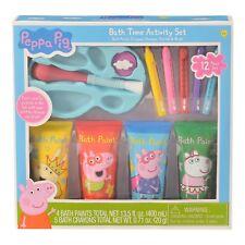 Peppa Pig 13-Pieces Gift Set Basket Kids Fun Bath time activity w/Free bath bomb