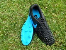 NEW NIKE TIEMPO LEGEND CLUB  MEN'S BLACK BLUE SOCCER CLEATS MANY SIZES AVAILABLE