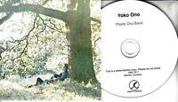 YOKO ONO Plastic Ono Band 2016 UK 10-trk promo test CD John Lennon Apple