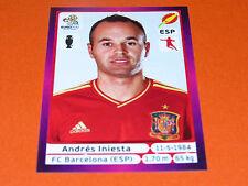 299 ANDRES INIESTA  BARCELONA ESPAGNE ESPAÑA  FOOTBALL PANINI UEFA EURO 2012