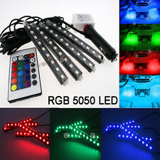 4PC RGB Multi 7-Color LED Knight Night Rider Scanner Lighting Bar w/Remote Red B