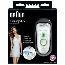 Braun Silk-epil 5 Power 5780 Epilator Womens Body Legs Face Shaver with 7 Extras
