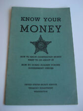 COUNTERFEIT MONEY ILLUSTRATED BOOKLET ~ 1946 ~ SECRET SERVICE
