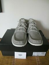 UGG Australia Men's Gray Beach Moc Chukka Leather Boots Size 10.5 Authentic