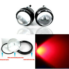 2pcs Red High Power Car Eye Bright 5W LED Projector Fog Light DRL Lamps 12V