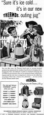 Arthur Sarnoff Thermos Outing Jug OVAL COOLERS Lemonade Stand 1958 Print Ad