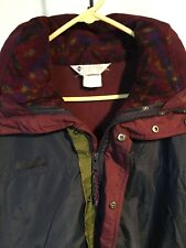 Vintage Columbia 3 In 1 Bugaboo Mens L Navy/Moss/Eggplant