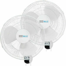 Simple Deluxe 16'' Digital Wall Mount Fans Adjustable Tilt 90° 3 speed 2-Pack