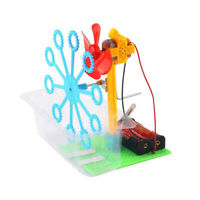 DIY Handmade Hand Cranked Bubble Machine Children Science Experiment Toy ③