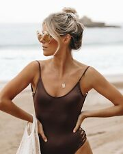 BNWT BILLABONG LADIES 2018 SEA CHASER ONE PIECE (COFFEE) SIZE 8 RRP $89.99