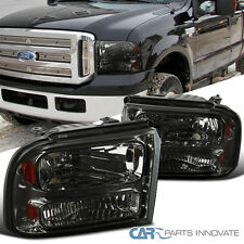 Ford 2005-2007 F250/F350/F450/F550 2005 Excursion Pickup Smoke Lens Headlights