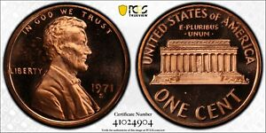 1971 S Lincoln Proof Penny PCGS PR66 Red CAMEO Registry Coin Gold Shield TV 1C