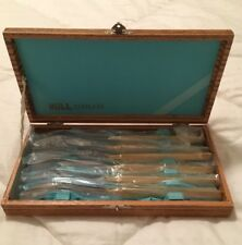 Hull Stainless Steel 23 Karat Gold Plated Vintage Knife Set Knives NEW Htf RARE