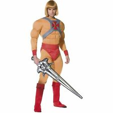 80s He Man Masters Of The Universe Novelty Adults Mens Fancy Dress Costume