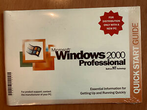 New Sealed Genuine Original Microsoft Windows 2000 Professional,No COA Or Cd Key