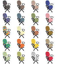 Ambesonne Abstract Pattern Office Chair Slipcover Protective Stretch Cover