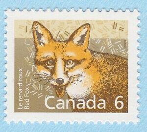 RED FOX STAMP CANADA UNUSED POSTAGE 1988 MAMMALS 6c ANIMAL WILDLIFE NATURE