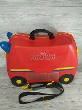 Trunki Children's Ride-On Suitcase & Hand Luggage: Frank Fire Engine
