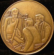 THE MAN ON BED Bronze Alcoholics Anonymous AA Medallion token Chip Coin Sobriety